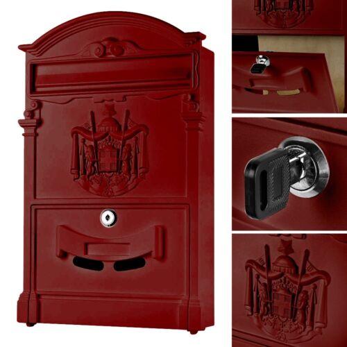 Briefkasten Wandbriefkasten Postkasten Mailbox Nostalgie Rot Design Wandmontage