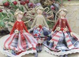 GISELA GRAHAM CHRISTMAS NEW ENGLAND COUNTRY PATCHWORK FAIRY ...