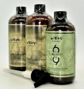 Wen by Chaz Dean Cleansing Conditioner Shampoo Trio - Choice Bundle 16oz or 12oz