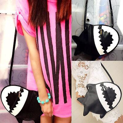 Fashion Women Faux Leather Shoulder Bag Shark Handbag Tote Purse Messenger