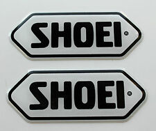SHOEI stickers - decals - 2 x White High Gloss Gel Finish - 43mm - Motorcycling