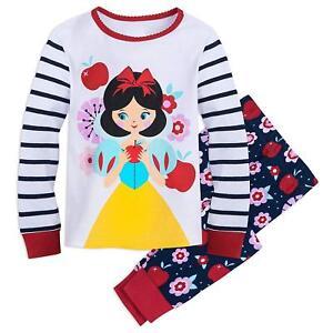 0a8ca98c8 Disney Store Princess Snow White 2PC Long Sleeve Tight Fit Pajama ...