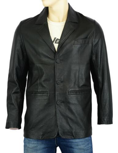 Homme doux nappa cuir blazer classique fashion vintage manteau