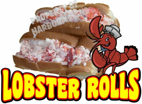 "Lobster Rolls Decal 14/"" Seafood Sandwich Concession Food Truck Vinyl Sticker"