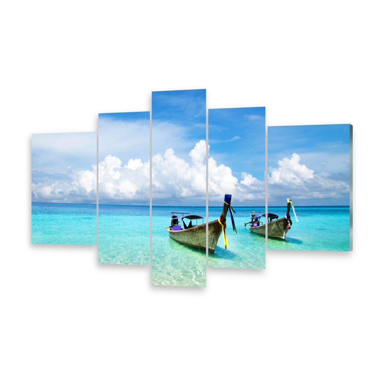 Mehrteilige Bilder Glasbilder Wandbild Strand Stiefele