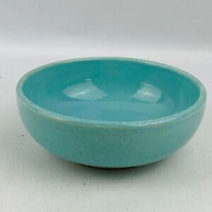 Vintage McCoy USA Small Bowl Robins Egg Blue Heavy Age Wear Crazing Cracks