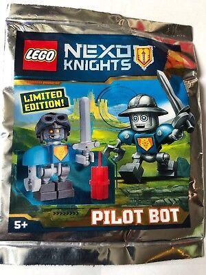 LEGO FIGURINE POLYBAG LIMITED MINIFIGURE NEXO KNIGHTS PILOT BOT PILOT-BOT