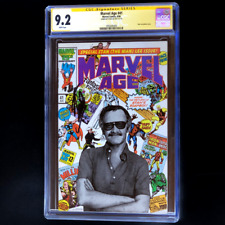MARVEL AGE #41 ?? SIGNED STAN LEE ?? CGC 9.2 SS - CLASSIC PHOTO COVER! 1986