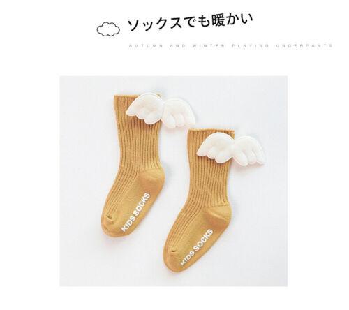 Kids Baby Girls Elsa Bow Lace Tutu Flower Socks Newborn Toddler Ankle Socks Wing