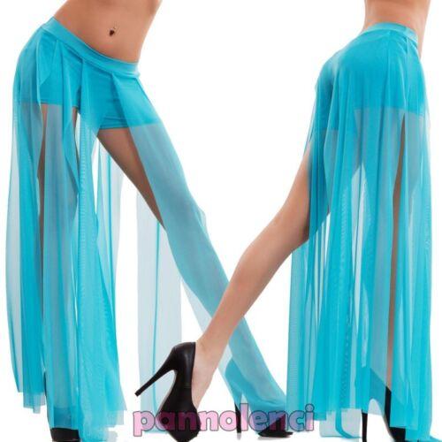 Pantaloncini donna velati pantaloni ballo danza ventre odalisca nuovi CC-1176