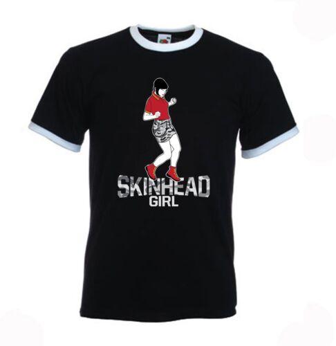 Skinhead Girl danseuse Contrast ringer Style T-Shirt