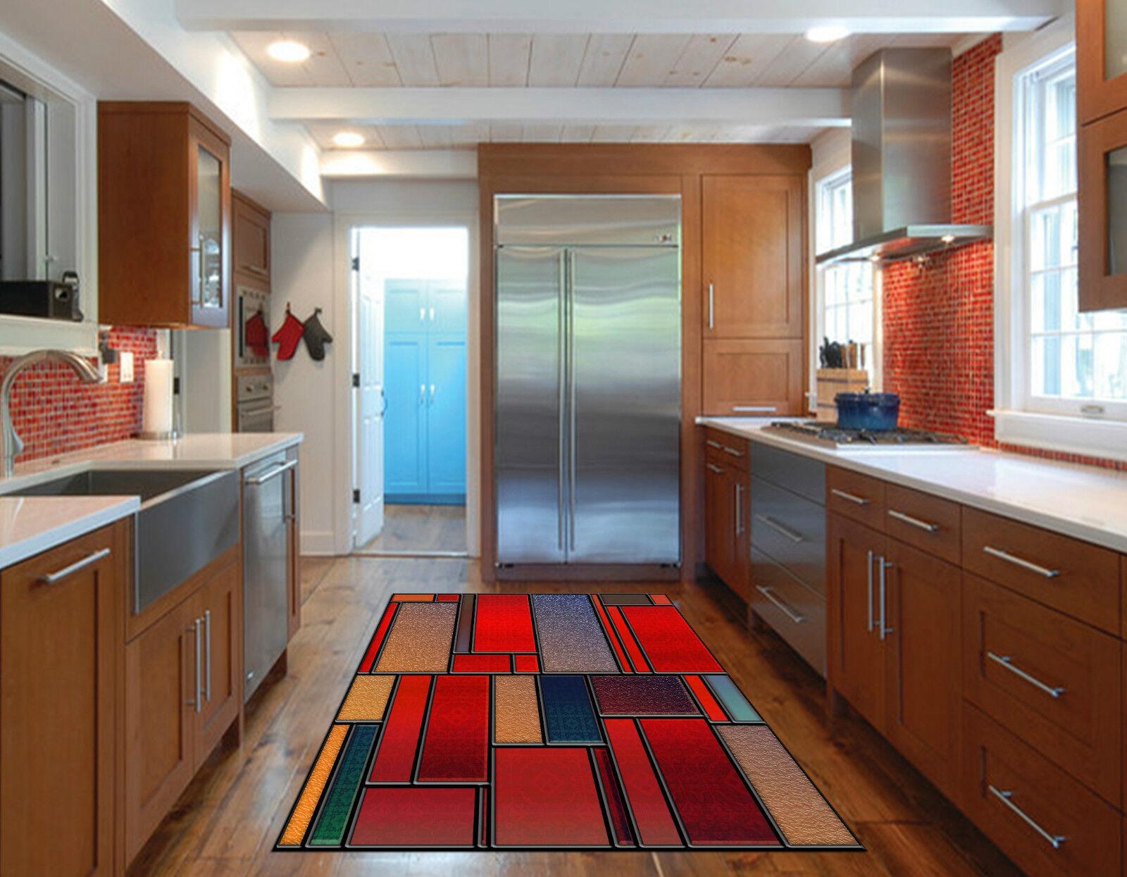 3D Plaid Patterns Kitchen Mat Floor Murals Wall Print Wall Deco AJ WALLPAPER CA