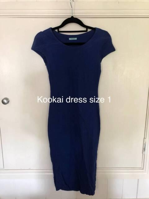 Kookai navy blue midi dress size 1