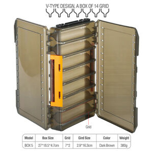 Plastic-Fishing-Lure-Bait-Hook-Tackle-Storage-Box-Case-Container-Compartments
