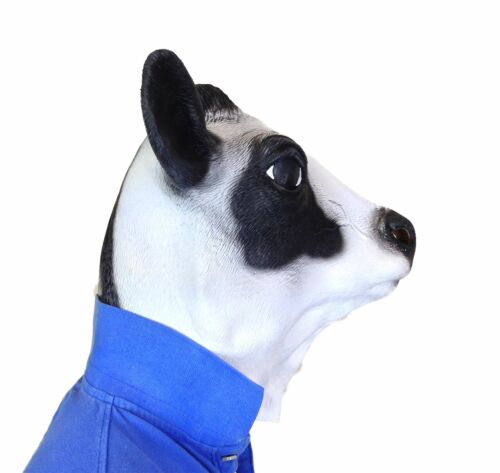 Overhead Milk Cow Mask Movie Quality Farm Animal Moo Fancy Dress Stag Party Prop