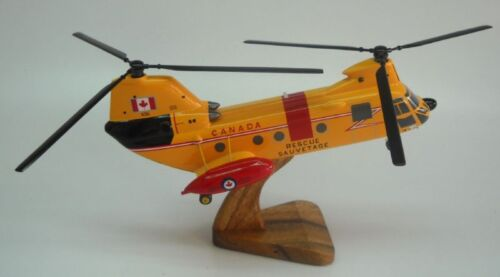 CH113 Labrador Boeing Vertol Helicopter Desk Wood Model Small New