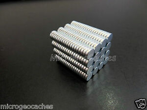 50-Strong-Earth-Magnets-Geocaching-Magnet-Micro-Caches-Container-Bison-Tube