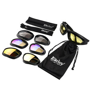 ef1280d99004 Daisy C5 4 Lenses Military UVB Goggles Hunting Sunglasses Motorcycle ...