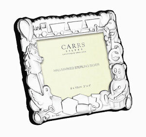 SOLID SILVER BABY / CHILDS / CHRISTENING / BIRTH PHOTO FRAME (BNIB) By Carrs 5029025181056
