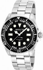 Invicta Men's 20119 Pro Diver Quartz 3 Hand Black Dial Watch
