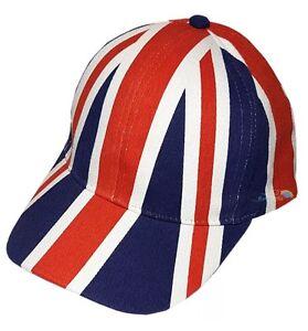 c6c01fcba03 New Unisex Adults Union Jack Baseball Cap Hat Summer Great Britain ...