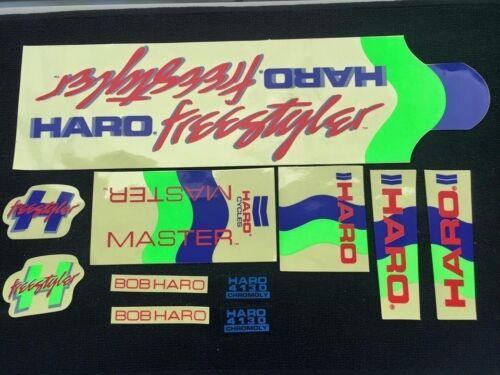 Nos OS BMX Decal Sticker for haro freestyler master frame handle bar fork chrome