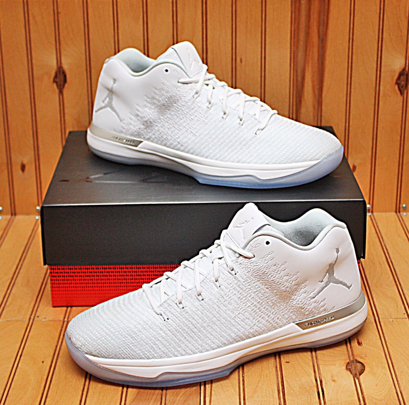 ee2ae555e3387d 2016 Nike Air Jordan XXXI 31 Low Size 12.5 - White Pure Platinum - 897564  100