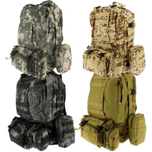 40L Molle Assault Pack Military Tactical Backpack Rucksack Hiking Camping Travel