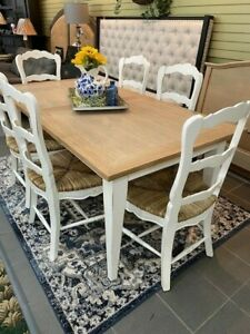 Farmhouse Dining Table 6 Chairs White, Farmhouse Dining Room Furniture Sets