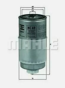 Fuel-Filter-fits-VOLVO-V70-MK2-2-5D-99-to-07-amp-AUDI-A4-1-9TDI-1996-2001-80-100