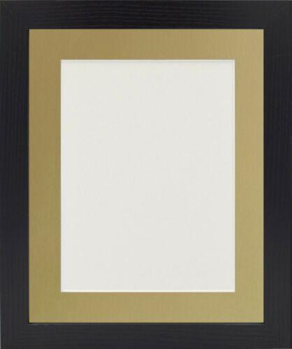 Photo Picture Frame With Gold Mount Various Sizes Black Oak /& White Photo Frame