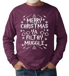 Joyeux-Noel-Ya-Filthy-moldu-Sweat-Shirt-Pull-Cadeau-Unisexe-Tailles