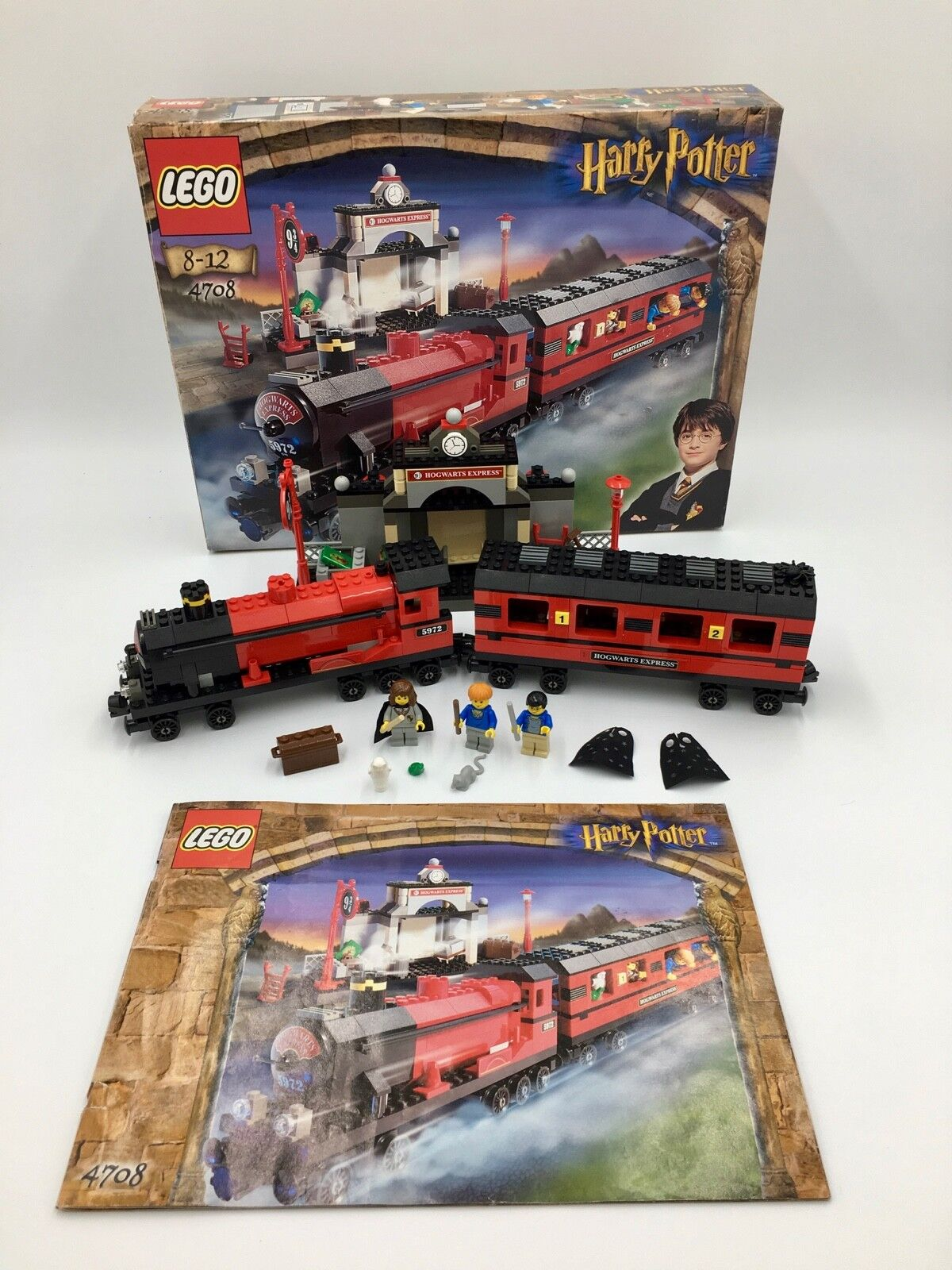 Lego 4708 Harry Potter Hogwarts Express Box & Instructions Excellent Condition