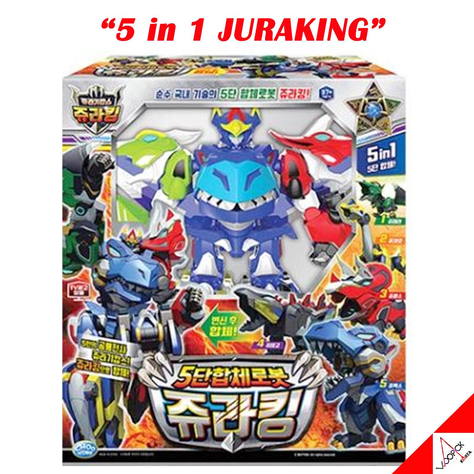 Jurassic Cops Evolution 5-in-1 JURAre Dinosaur Combined Transformer Robot giocattolo