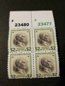 US Stamps SC# 833 1938 $2 Warren G. Harding Block Replica Facsimile Place Holder