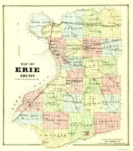 Burr 1880-23 x 26.25 Erie New York