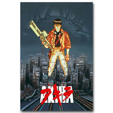 Akira Red Fighting Japan Anime Silk Cloth Poster 13x18 32x43 inch