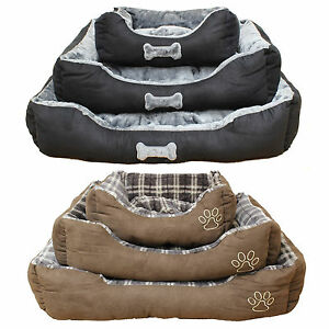 Super-Soft-Luxury-Comfy-Dog-Puppy-Cat-Pet-Bed-Cushion-Fur-Fleece-S-M-L-Washable