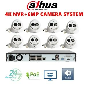 Dahua-8CH-6MP-CCTV-Security-KIT-Bulit-in-MIC-IPC-HDW4631C-A-4K-NVR4208-8P-4KS2