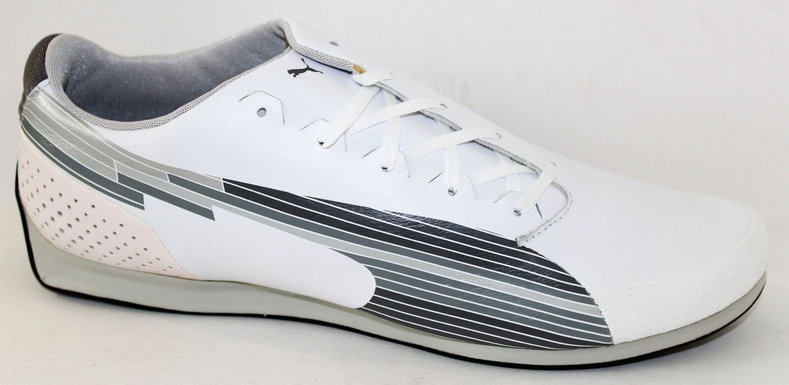 Puma evoSPEED Low 304174-02 White Leather Mens Athletic shoes NWD Size 8.5 - 13