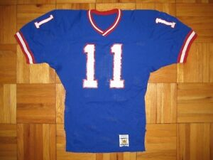 Details about 1980's Authentic Giants Phil Simms jersey Sand-Knit 40 PRO-Line Vintage