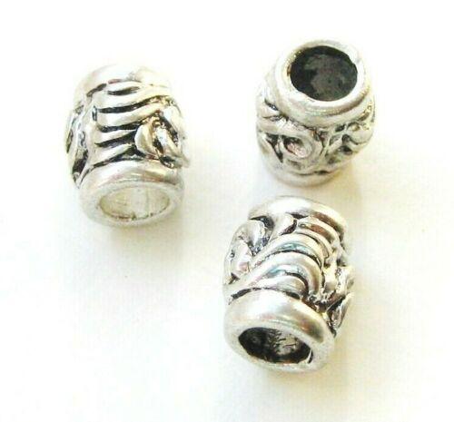 Métal Perles European Beads Tube 8x10mm pour bandes 4 Mm 5 Pièce serajosy