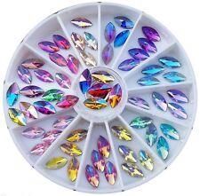Kristalle oval Bunt Strass Straßsteine Rondell Strass Glitter nailart NR.158