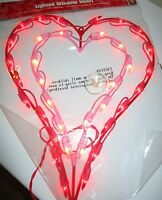 16 Lighted Red & Pink Double Hearts Valentine Wedding - Party Nip