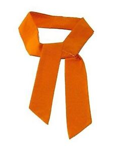 ORANGE-Neck-Cooler-Scarf-Ice-Cold-Therapy-Tie-Bandana-034-4-5cm-x-100cm-034-RUN-COOL
