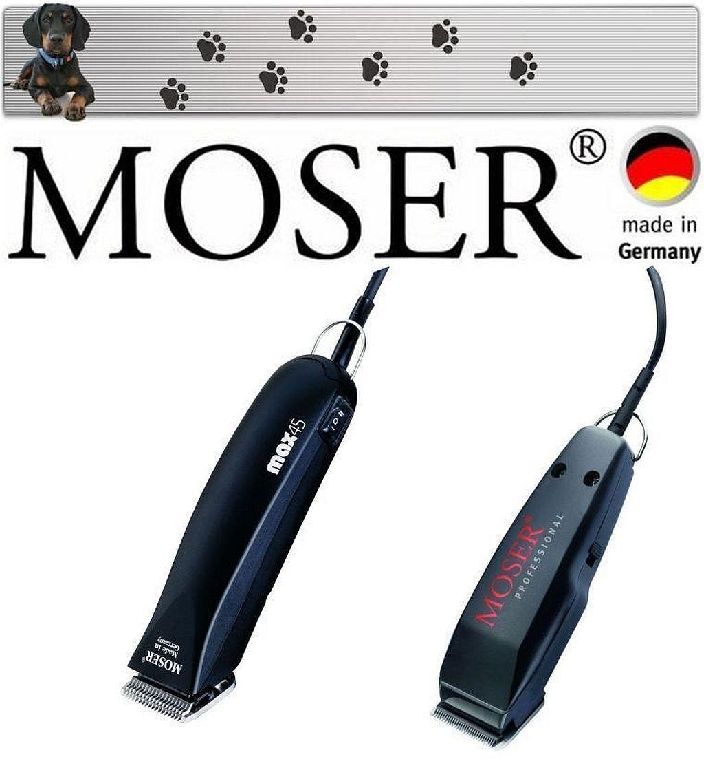 Moser Max 45 Tosatrice per Cani Professionale + Mini per Trimmer Lavoro Finitura