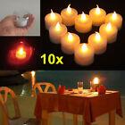 10pcs New LED Amber Yellow Battery Tea Light Party Wedding Flameless Candle