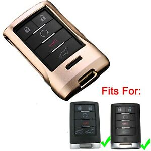 Aluminium Golden Remote Key Fob Case Shell for Cadillac Escalade ESV DTS CTS SRX