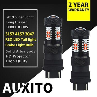 RED 3157 4157 LED Tail Brake light Bulbs For Chevy Tahoe Corvette 2011 2012 2013