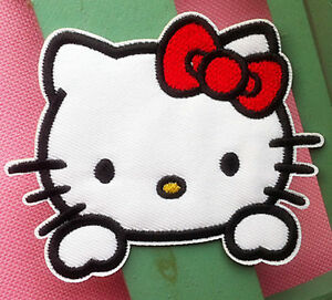 SANRIO HELLO KITTY Pink Jumpsuit  Fabric Embroidered Iron//Sew On Patch